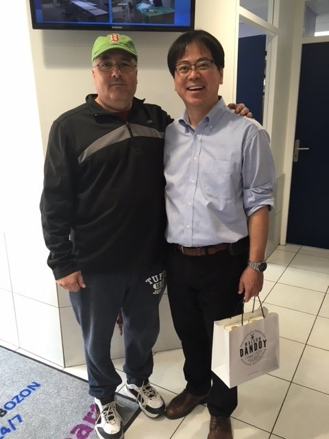 Dave Errico with Dr. Uechi