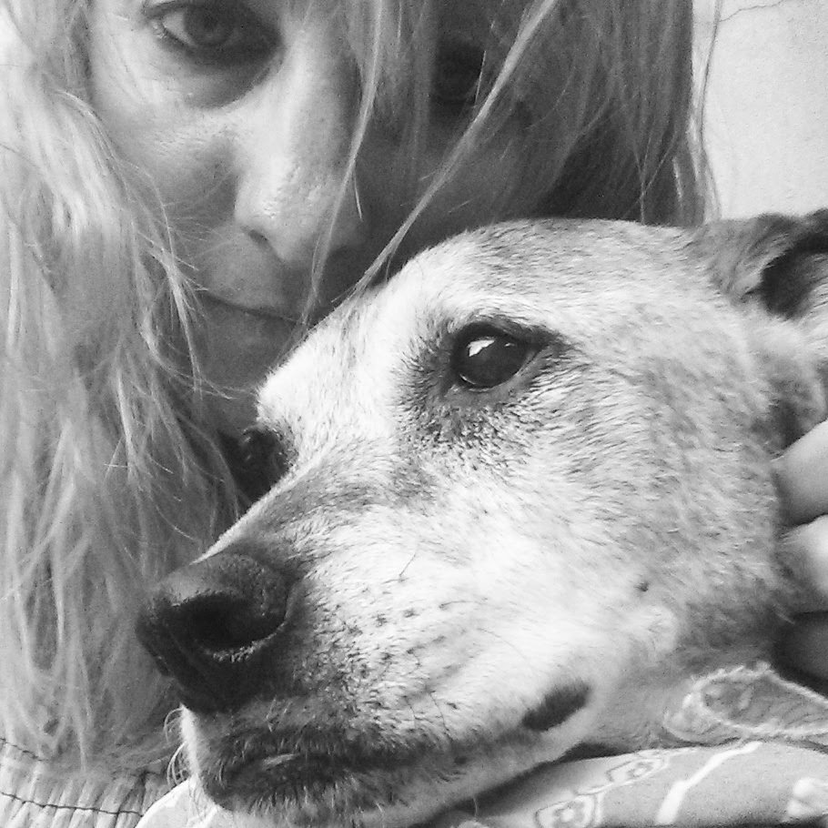 Jennifer Mickadeit and her 16-year-old dog Zowie